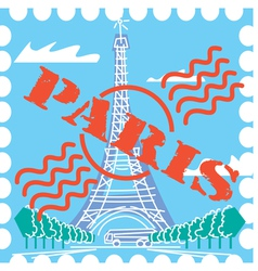 Paris drawing vector image vector image