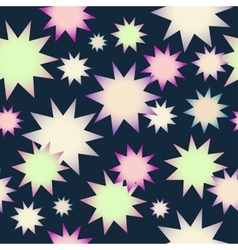 pattern with the image of stars on a vector image vector image