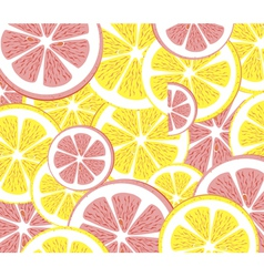 Seamless lemon pattern vector image vector image