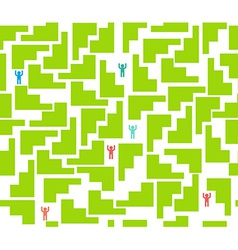Seamless pattern maze for people vector