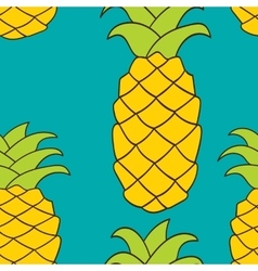 Seamless pattern pineapple vector
