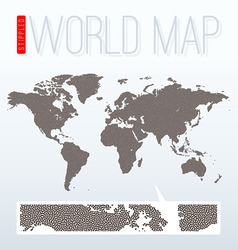 Stippled world map vector