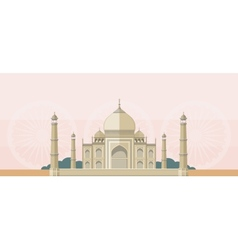 The taj mahal flat image vector