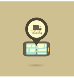 truck navigator icon vector image vector image