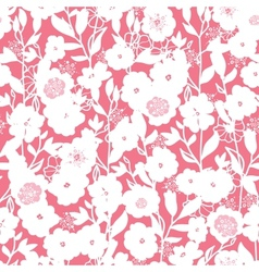 White and pink blossoms seamless pattern vector image vector image