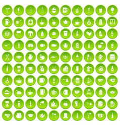 100 usa icons set green circle vector