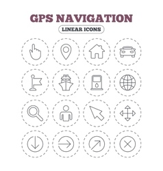 GPS navigation icons Car and Ship transport vector image