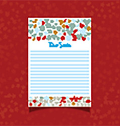 Christmas letter to Santa vector image