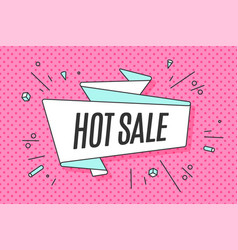 Ribbon banner with text hot sale vector