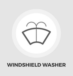 wiper icon flat vector image