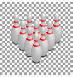 Skittles for bowling isometric vector