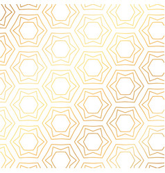 Star and hexagon shapes golden pattern background vector