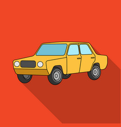 Old carcar single icon in flat style vector