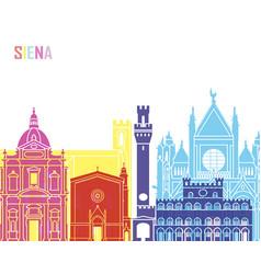 Siena skyline pop vector
