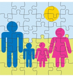 Family puzzle vector