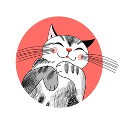 Graphics cat vector