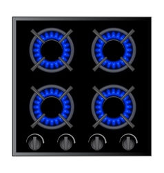 Gas stove burner over dark vector