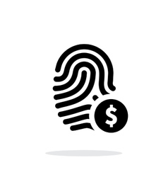 Fingerprint with USD currency symbol and money vector image