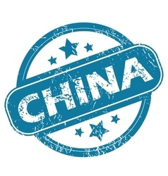 China round stamp vector