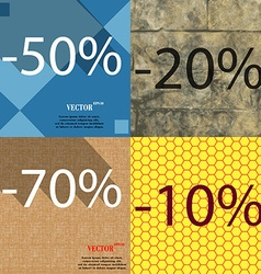 20 70 10 icon set of percent discount on abstract vector