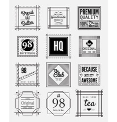 Square badges vector