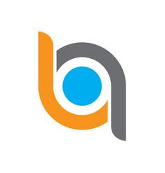 abstract circle connected logo vector image