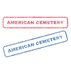 American cemetery textile stamps vector