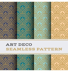Art Deco seamless pattern 04 vector image vector image