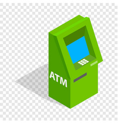 Atm isometric icon vector