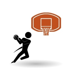 Basketballl design sport icon White background vector image vector image