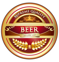 Beer Label Vintage Design vector image vector image