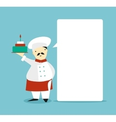 Blank bubble with the chef vector image vector image