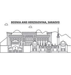 Bosnia and herzegovina saraevo architecture line vector
