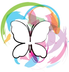 Butterfly abstract background vector image vector image