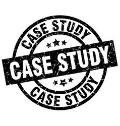 Case study round grunge black stamp vector