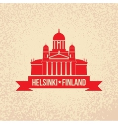 Cathedral the symbol Of Helsinki Finland Simple vector image