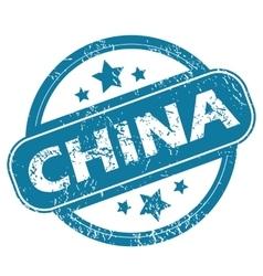 China round stamp vector
