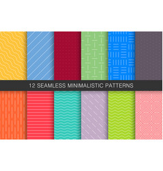 Collection of seamless geometric patterns - bright vector
