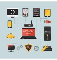 Computer network concept vector