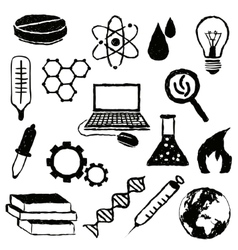 Doodle science images vector