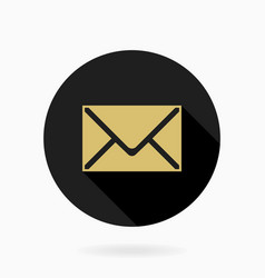Fine mail flat icon vector