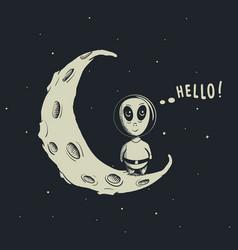 funny alien astronaut vector image vector image