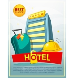 Hotel poster vector
