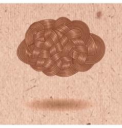 Interlacing tangle of hair vector