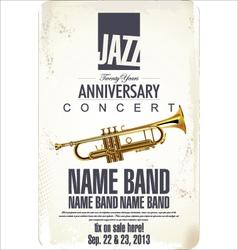 Jazz concert poster vector image vector image