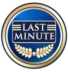 Last Minute vector image vector image