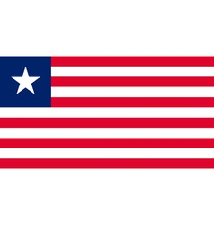 liberian flag vector image vector image