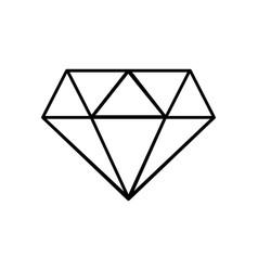 Line beauty luxury diamond gen accessory vector