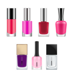 Packages for nail polish vector