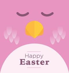 Pink easter chick vector